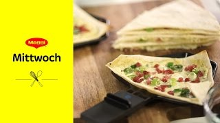Schnelles Flammkuchen Raclette (Rezept) | MAGGI Mittwoch