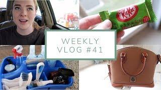 My Cleaning Caddy, Brandless Food Haul, + Gorgeous New Handbag | Weekly Vlog #41 | July 15-19, 2018