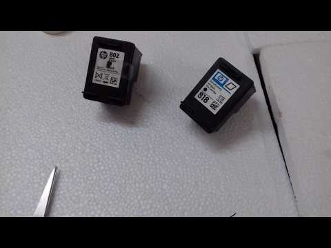 How to Fill Ink in HP Cartridge 802,818 / how to fill ink in hp cartridge