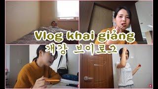 [Daily Vlog - Vietsub] (Lại là) Ngày Khai Giảng, Công Việc mới của Ánh |개강브이로그  || Sunny's Colour