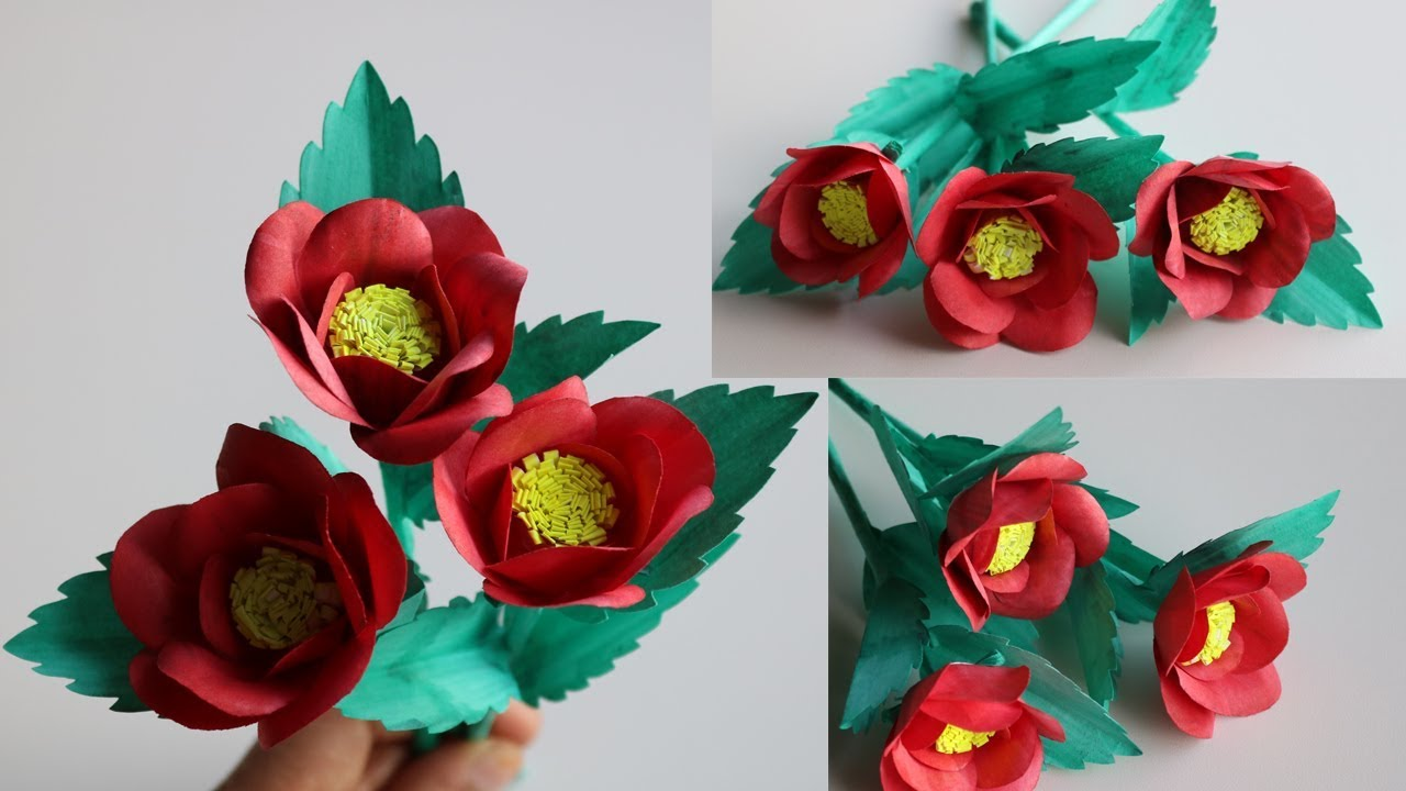 How To Make Beautiful Flowers With Papers Diy Handmade Paper Craft