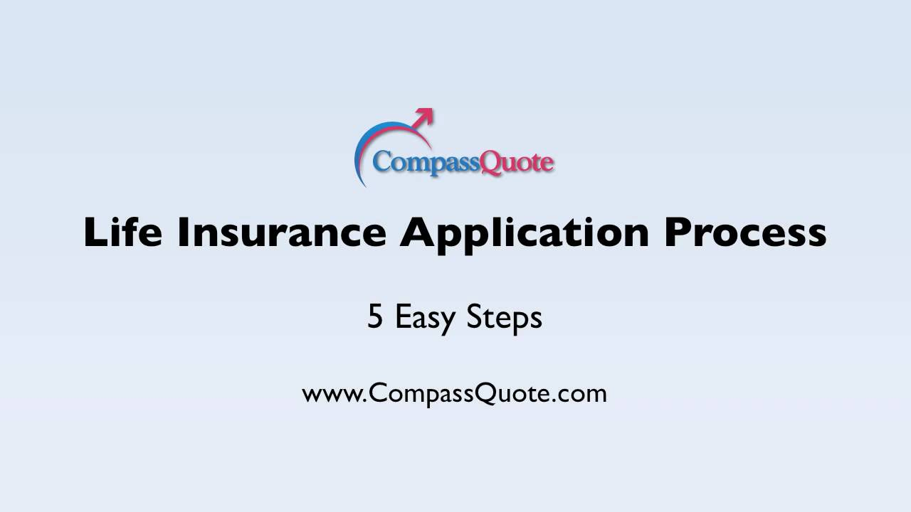 Life Quote Insurance Life Insurance Application Process From Compass Quote  Youtube