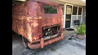 FIRST START IN OVER 40 YEARS - RESURRECTION RESTORATION!!! 1962 VW Type 2 Van/Bus, VW Kombi thumbnail
