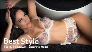 Angelina Petrova Ukraine - sexy model at a photo shoot, women's underwear.(+18)  4K(UHD)