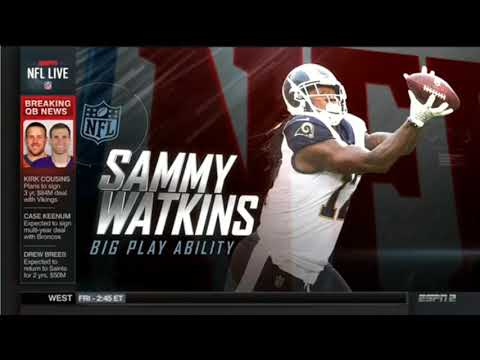 Sammy watkins internds to sign with Chiefs - Will sign 3-yr/$48M  deal with 30M in guarantees