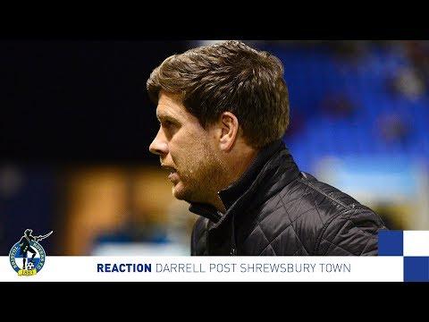 Reaction: Darrell post Shrewsbury Town