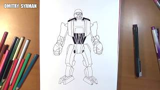 Speed drawing robot Sarge, Real Steel