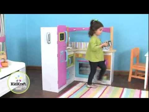 Kidkraft Bright Grand Gourmet Corner Kitchen 53193   Childrens Role Play    Jadlam Racing Models   YouTube