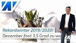 Rekordwinter 2019/2020 ohne Kälte und Schnee? Der Wettertrend bis März 2020 verspricht nichts Gutes!