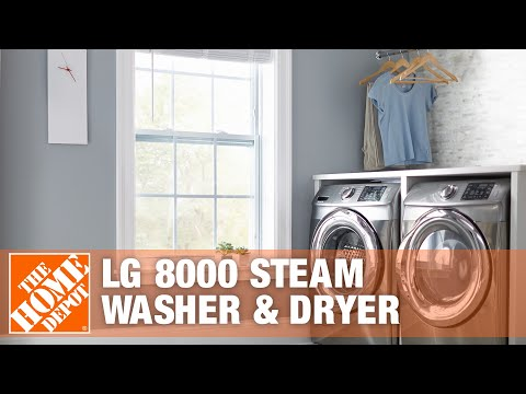 LG 8000 Steam Washer & Dryer | The Home Depot