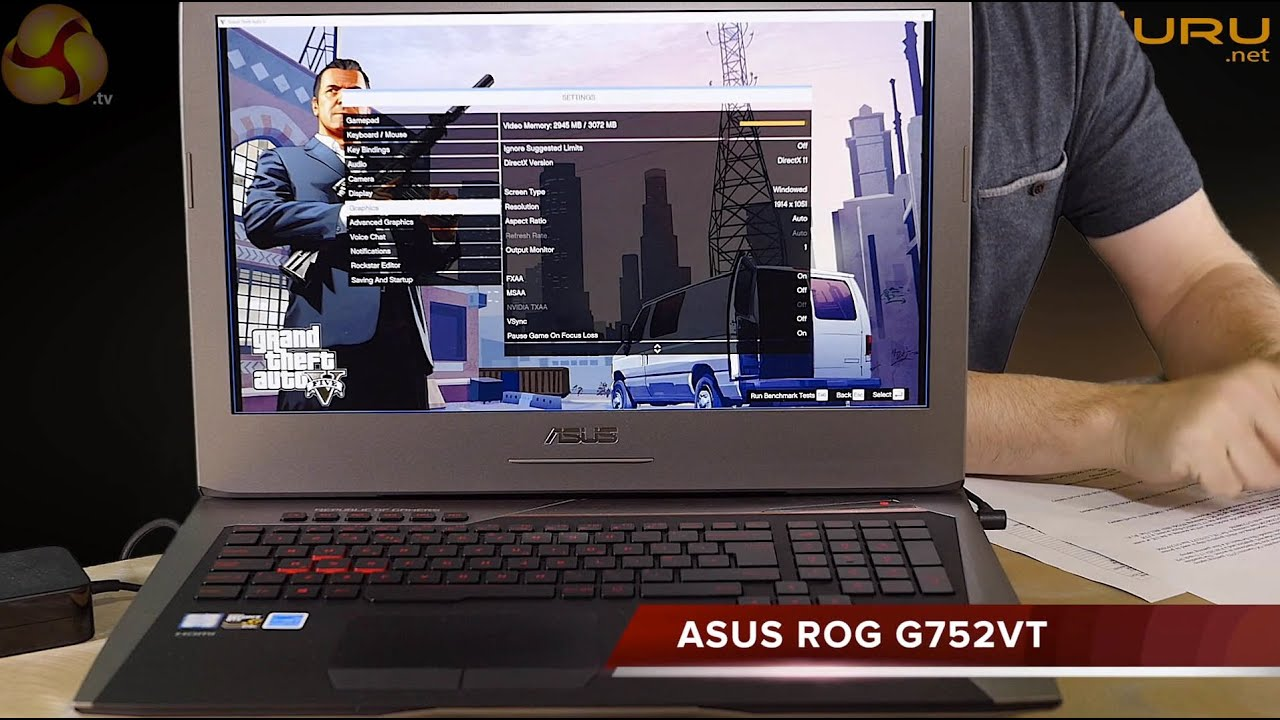 Asus ROG G752VT Review - YouTube