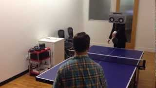 The RadioHead playing ping pong