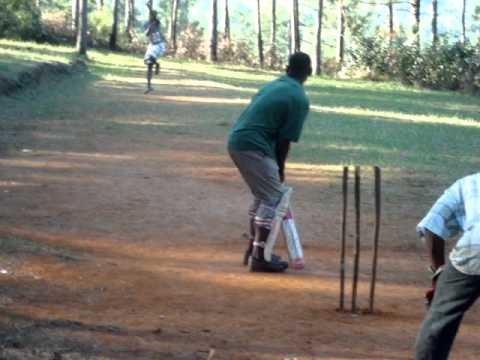 Cricket game in the Bull Head Mountains Clarendon Jamaica