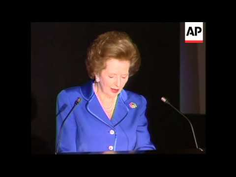 UK: MARGARET THATCHER - CONSERVATIVE PARTY CONFERENCE