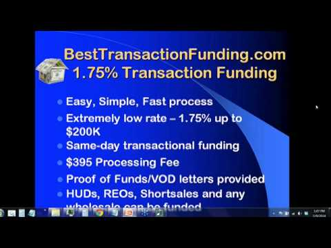 Using BestTransactionFunding.com Transactional Funding for HUD Transactions