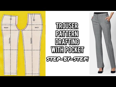HOW TO MAKE WOMEN TROUSER (WITH POCKET)   PANT PATTERN DRAFTING   DETAILED  FEMALE TROUSER