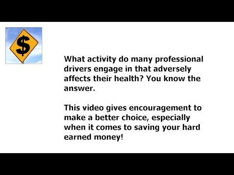 What Activity Do Many Professional Drivers Engage In That Adversely Affects Their Health