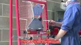 sealey ga70 four wheel laser aligner