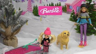 Barbie Bad Day Story: Barbie Toys and Barbie Fashion Set w Barbie Sisters Chelsea and Stacie Part 1