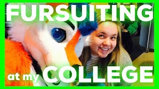 FURSUITING to my COLLEGE CLASSES!?