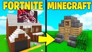 CASA DI FORTNITE vs CASA DI MINECRAFT! - Minecraft ITA