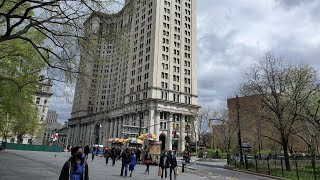 NYC LIVE Exploring Manhattan \u0026 Brooklyn : City Hall to Red Hook to Times Square (April 17, 2021)