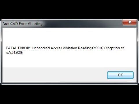 Lỗi không mở được  autocad 2007