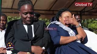Waziri Ndalichako Amwaga Machozi Msibani kwa Maria, Consolata