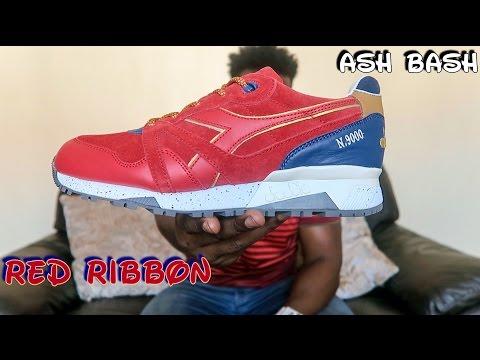 UBIQ X Diadora N9000   Red Ribbon   Ash Bash