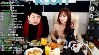 [4] [크리스마스] 특집 BJ'미유' 와 (달달한) 술먹방!! - KoonTV