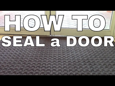 SEAL THE BOTTOM OF A DOOR THAT LEAKS COLD AIR