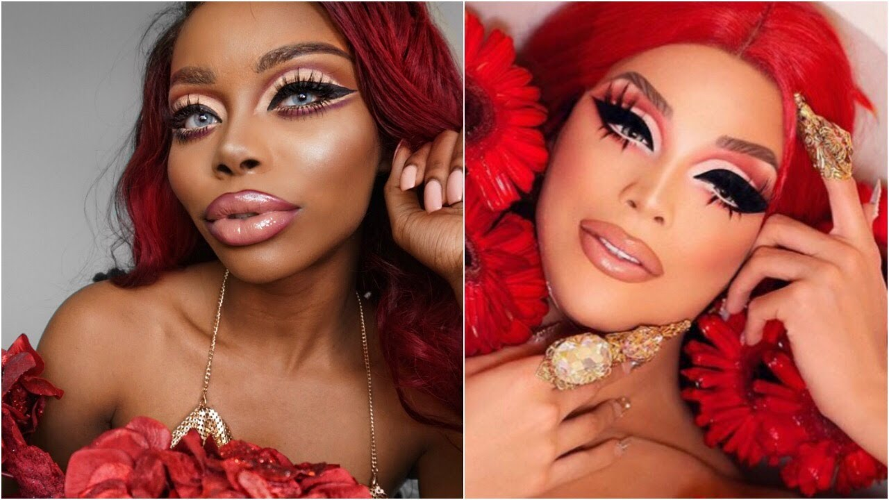 Valentina Inspired Drag Makeup Tutorial Pin Curl