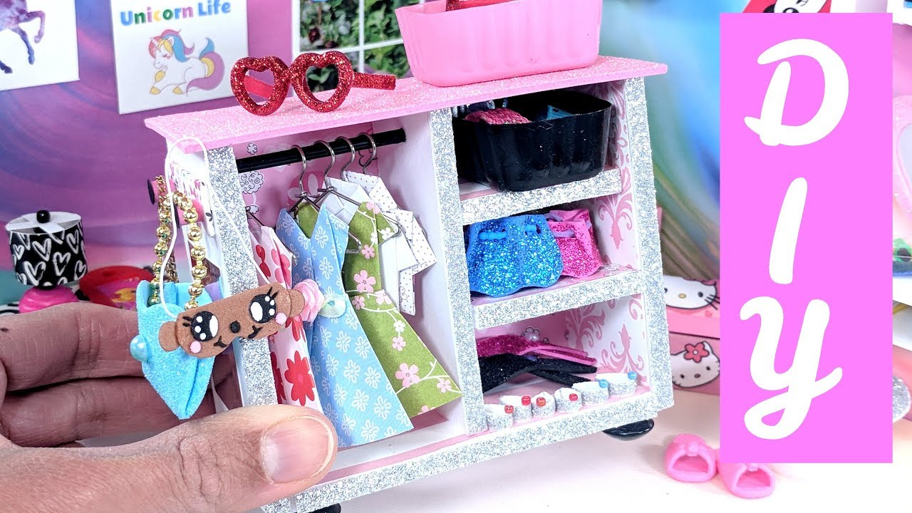 DIY Miniature Wardrobe Closet Clothing Accessories