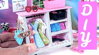 DIY Miniature Wardrobe Closet, Clothing, & Accessories  - Collab with Red Ted Art