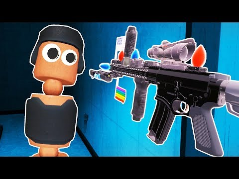 I BUILT THE DUMBEST GUN EVER in Hot Dogs Horseshoes and Hand Grenades VR! |