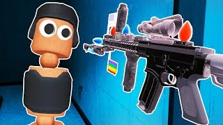 I BUILT THE DUMBEST GUN EVER in Hot Dogs Horseshoes and Hand Grenades VR!