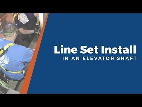 Line Set Installation Down An Elevator Shaft