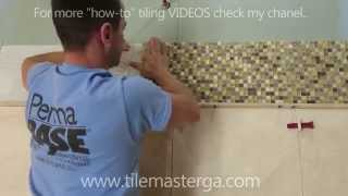 "Part ""3"" How to install  Travertine Tile mosaic accent with border 🛀🏻 🚿🚽🚻"