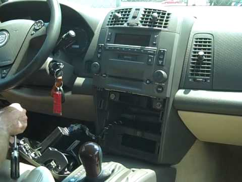 How to Cadillac CTS Bose Car Stereo Removal Repair replace cd - YouTube