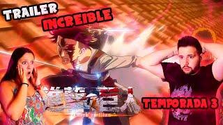 TRAILER INCREIBLE!! SHINGEKI NO KYOJIN TEMPORADA 3