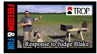 Response To Judge Catherine Blake