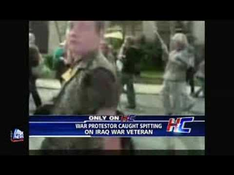 Anti-War Protester Spits on Iraq War Veteran from YouTube · Duration:  4 minutes 53 seconds