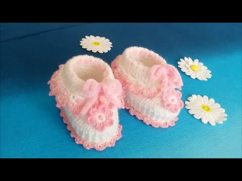 How To Crochet Easy Baby Booties For Beginners Step By