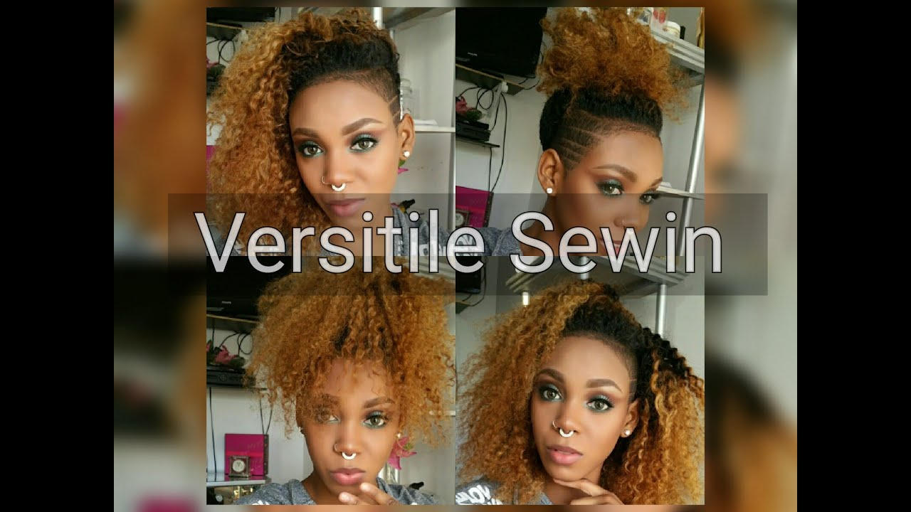 Versatile Curly Sewin For Shaved Sides Youtube