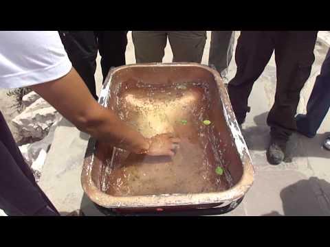 Rotação da água na linha do Equador
