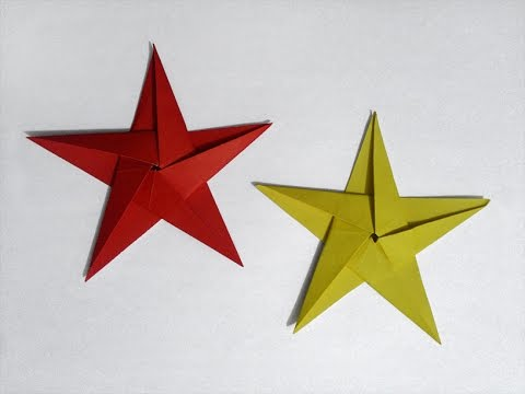 How To Make Paper 5 Pointed Star Youtube