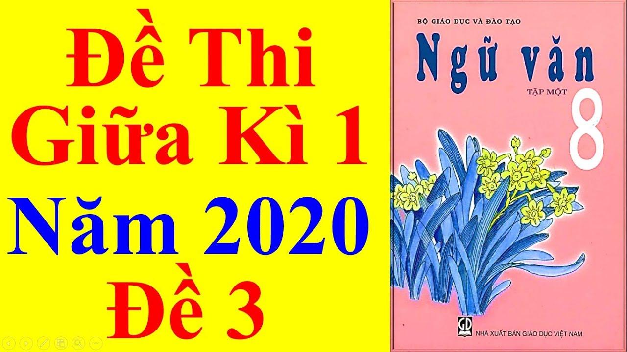 Ngữ văn Lớp 8 – Đề Thi Giữa Học Kì 1 Năm 2020 #3