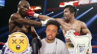MANNY PACQUIAO ALL KNOCKOUTS HIGHLIGHT REACTION