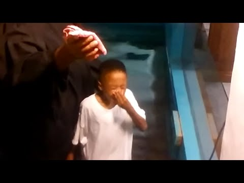 This Little Kid is SO Excited for Church Baptism