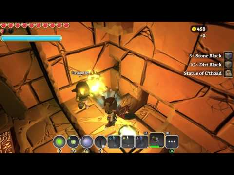 Portal Knights Armor Recipe farming in Tomb of C'Thiris